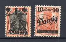 Danzig 41III+46III OHNE UNTERDRUCK GEF- gest. 47EUR (74712