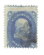Scott 92 Early US Stamp..1c Franklin... 1861-62... F Grill