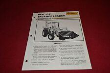 Massey Ferguson 30E Industrial Tractor Backhoe Dealer's Brochure DCPA2