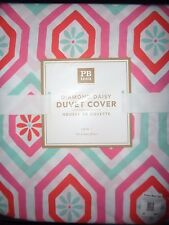 Pottery Barn TEEN DIAMOND DAISY DUVET COVER W/ SHAM-TWIN SIZE-NEW IN PACKAGE