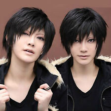 NC12 Cool Izaya Orihara DuRaRaRa!! DRRR Hot Black short Cosplay Party Hair Wig