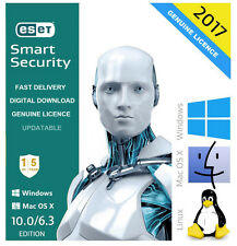 Genuino Antivirus Eset Smart Security 2017 V10.0 1 usuario/PC 5 año licencia