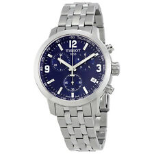 Tissot PRC 200 Chronograph Blue Dial Stainless Steel Mens Watch T0554171104700