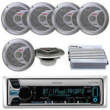 "Kenwood CD USB Pandora MP3 iPhone iPod Stereo, 6X Silver 6.5"" Speakers, 400W Amp"
