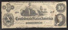 Confederate 10 Dollar Note - 1862 - Richmond - T46 - FINE