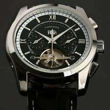ESS Automatic Black Dial Watch Tourbillon Cage - Imported