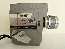 REVERE MOVIE CAMERA Power Zoom 8mm Eye-Matic Magazine Model 119 WIDE ANGLE