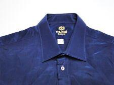 Van Lack Royal Herren Hemd Langarm Blau Unifarben KW39 TOP!