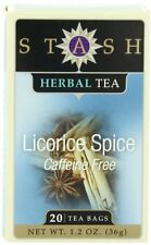 Stash Tea Licorice Spice Herbal Tea, 20 Count Tea Bags in Foil (Pack of 6) , New
