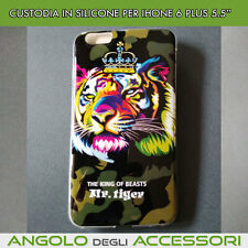 "Cover morbida guscio silicone tpu Tigre  per iphone 6 5.5 plus ""POSTA1"""