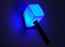 MARVEL THOR HAMMER 3D DECO LED WALL LIGHT NIGHT LIGHT FX BRAND NEW