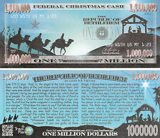 Blue Nativity Million Dollar Bill Fake Funny Money Gospel Tract Novelty Note