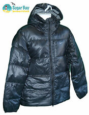 NIKE Mens Quilted 800 Fill Down Stay Warm Jacket  Black M Packable