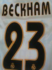 Maglia Real Madrid 2004 2005 Adidas Siemens 23 Beckham Size M Shirt Camiseta