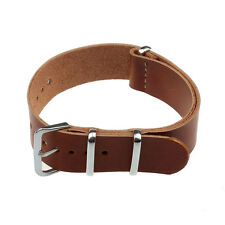 New Stylish Concise PU Leather 20/22Cm Wrist Watch Band Strap Pin Buckle Black