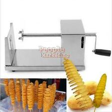 Manual Stainless Steel Spiral Potato Chips Twister Slicer Fry Vegetable Cutter