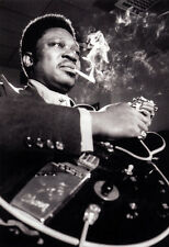 B.B. King Poster, Smoking, Playing the Guitar, Blues Music Legend