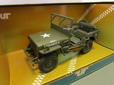 UT MODELS 1/18 U.S. ARMY GREEN WILLYS JEEP USED IN BOX *ISSUE*