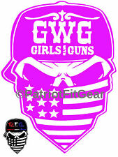 GIRLS with GUNS,Skull,Second Amendment,DTOM,#2A,Molon Labe,Stickers,Vinyl Decal
