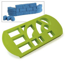 Brick MAKER Plastic Mold to make multiple bricks moon sand bubber delta sand