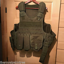 Condor Tactical MOLLE Vest. Plate Carrier with Accessories. Olive Drab.