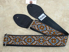 SOULDIER Guitar Strap HAIDA Gray Copper // Vintage Style Woven Tapestry Grey