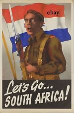 WW1 RECRUITING POSTER LETS GO SOUTH AFRICA ARMY BRITISH EMPIRE NEW A4 PRINT