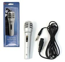 SILVER WIRED DYNAMIC MICROPHONE MIC DJ PA KARAOKE VOCAL