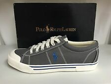 Polo Ralph Lauren Gainsley Men's Canvas Fashion Sneakers Shoes Trainers Gray
