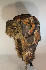 Camo Tree Brown Aviator Trapper Hunting Hat TRUE 210