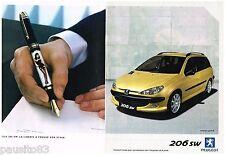 PUBLICITE ADVERTISING 105  2002  PEUGEOT   la 206 SW ( 2 pages)