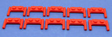 LEGO 10 x Platte mit Griff Stange 1x2 rot | red plate with handle (3839)