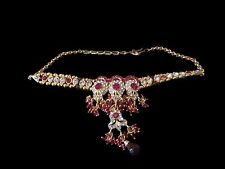 Red Kundan Baju Band (Armlet)