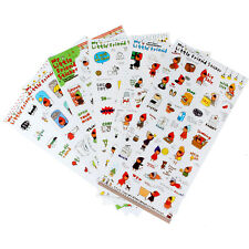6 Sheets Cute Girl Scrapbooking Memo Stickers Diary Book Sticker Decoration Set