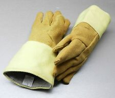 "GLOVES HIGH TEMPERATURE GLOVE HEAT RESISTANT KEVLAR - PBI 14"" PAIR Rated 1400F"