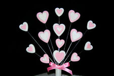 HEARTS Birthday or Christening cake topper (can be made in any colours)
