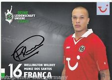 Wellington wildhy Muniz dos santos franca Hannover 96 2012-13 top ak +a46644