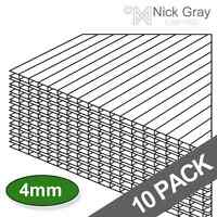 Greenhouse or Shed Replacement Polycarbonate 4mm Sheets | 2ft x 4ft | 10 Pack