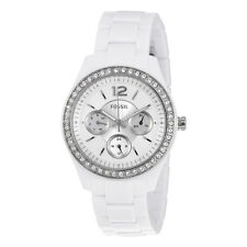 Fossil Stella Silver Dial White Resin Ladies Multifunction Watch ES3813