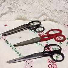 Vtg USA Clauss Sewing Scissors #3217 and 2 Add'l Made in U.S.A. Heavy Scissors