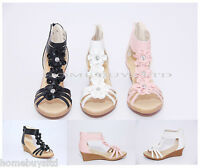 WOMENS/LADIES WEDGE SANDALS SHOES SIZE NEW SUMMER HEEL PARTY SLIP ON CASUAL ZIP