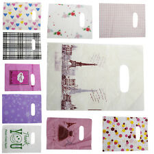 New 100Pcs Lot Pretty Plastic Gift Bag Shopping Bags 14x20cm PRH