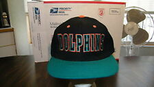 VTG MIAMI DOLPHINS PRO PLAYER EMBROIDERED CAP, SNAP BACK, TEAM NFL, NOS, NWT.