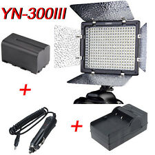 YN300III Camera Video LED Light + Sony NP-960 6600mah Battery + AC Charger 5500K