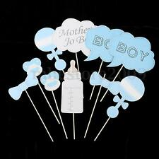 10pcs Baby Shower Photo Booth Props Party Girl/Boy Little Lady Mini Mister Decor