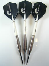 JOHN LOWE STYLE DARTS SET 90% TUNGSTEN 23 GRAM UNICORN STEMS & FLIGHTS
