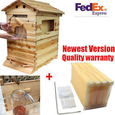 4Pcs Beekeeping Hive Frames+Beehive Wooden House High Efficiency Raw Honey