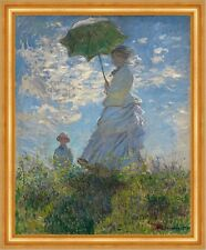 Woman with a Parasol - Madame Monet and Her Son C. Monet Familie B A3 01225