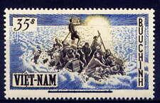 VIETNAM, SOUTH Sc#54 1956 Refugees on Raft Overprint MNH