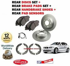 FOR BMW E81 116i 116D 2007-  REAR BRAKE DISCS SET + PADS KIT + SHOES + SENSORS